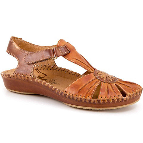 Pikolinos - Brown +vanity+ womens casual rip tape fastening sandals