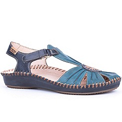 Pikolinos - Navy 'Vanity' Womens Casual Rip Tape Fastening Sandals