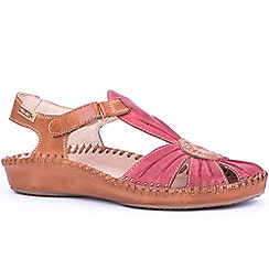 Pikolinos - Red brick 'Vanity' womens casual velcro fastening sandals