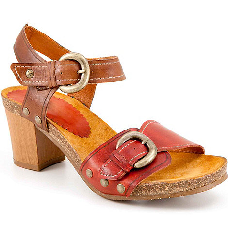 Pikolinos - Red prompt womens buckle fastening sandals
