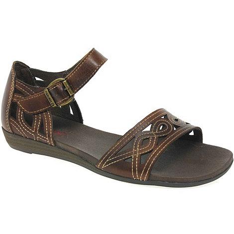 Pikolinos - Tan +anna+ womens buckle fastening sandals