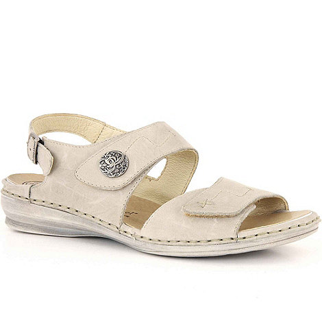 Josef Seibel - Beige georgia women's rip tape fastening sandals