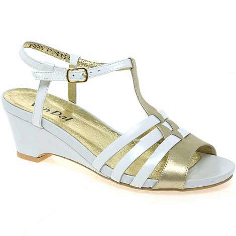 Van Dal - White ramsgate womens buckle fastening sandals
