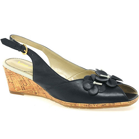 Van Dal - Navy +miranda+ womens slingback shoes