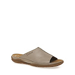 Gabor - Light brown 'Idol II' wide fit mules