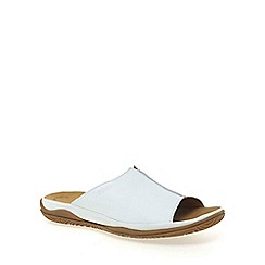 Gabor - White Idol Ii Wide Fit Mules
