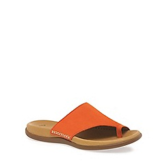 Gabor - Orange 'Lanzarote' fashion mules