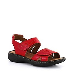 Josef Seibel - Red 'Debra' rip tape sandals