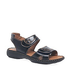 Josef Seibel - Blue debra rip tape sandals