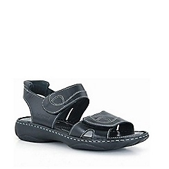 Josef Seibel - Black debra rip tape sandals