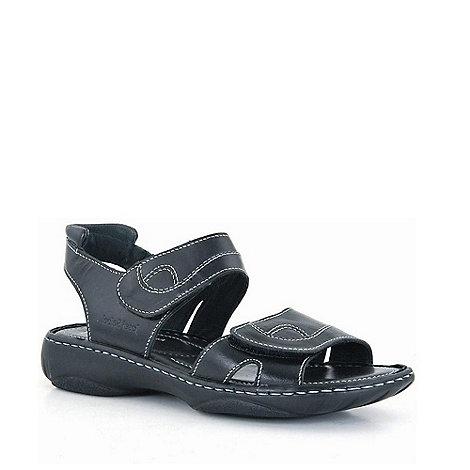 Josef Seibel - Black debra rip tape sandals