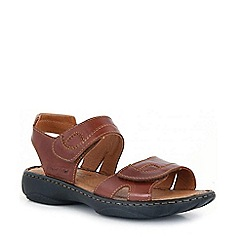 Josef Seibel - Brown debra rip tape sandals