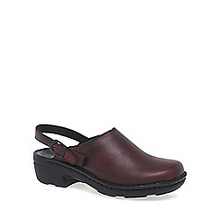 Josef Seibel - Dark red 'Betsy' leather mules