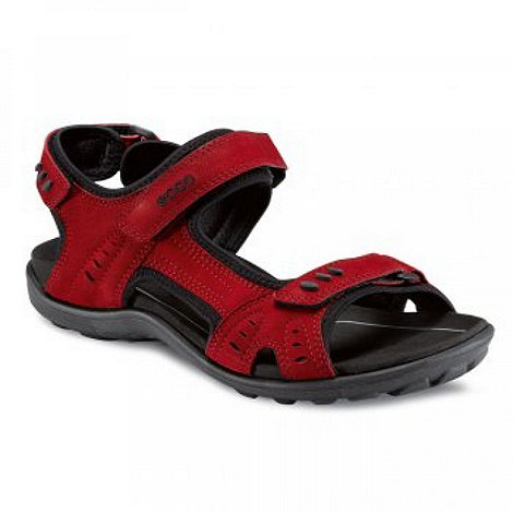 Ecco - Red Rough Walking Sandals