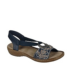 Rieker - Blue 'Jewel' Ring Trim Womens Sandals
