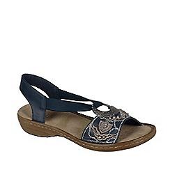 Rieker - Blue 'Jewel' Ring Trim Womens Sandals