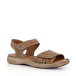 Josef Seibel - Brown 'Lisa' rip tape womens sandals