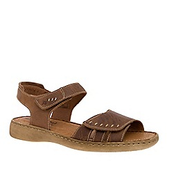 Josef Seibel - Dark brown 'Lisa' velcro womens sandals