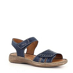 Josef Seibel - Navy 'Lisa' rip tape womens sandals