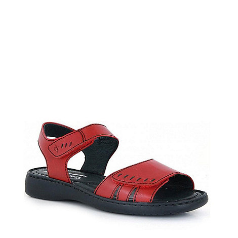 Josef Seibel - Red +lisa+ rip tape women+s sandals