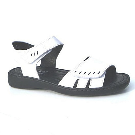 null - White +lisa+ rip tape women+s sandals