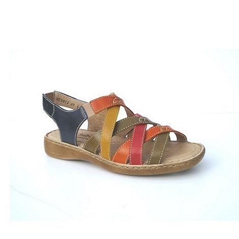 Josef Seibel - Multi Coloured +Lisa+ Elasticated Women+S Sandals