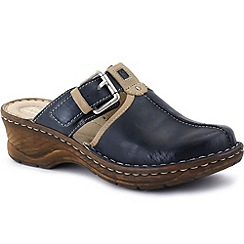 Josef Seibel - Blue 'Catalonia' buckle trim women's clogs