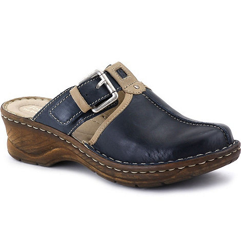 Josef Seibel - Blue +Catalonia+ buckle trim women+s clogs