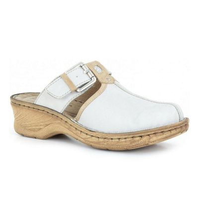 Off White Catalonia Buckle Trim Womens Clogs