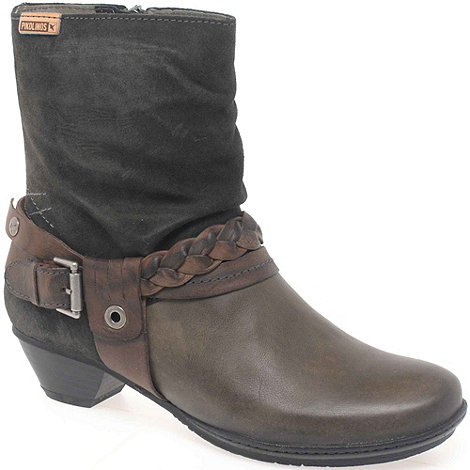 Pikolinos - Grey +Brujas+ Womens Buckle Strap Ankle Boots