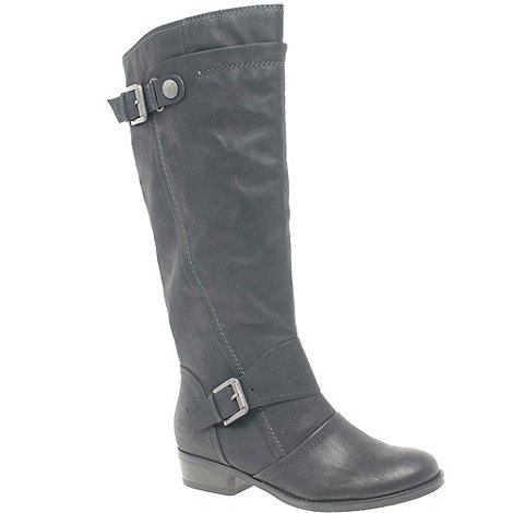 Marco Tozzi - Black +Daisy+ Womens Equestrian Style Long Boots
