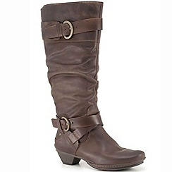 Pikolinos - Dark Brown 'Arizona' Ladies' Long Brown Leather Boot 801-8004