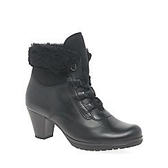 Gabor - Black Cosmic Womens Lace Up Boots