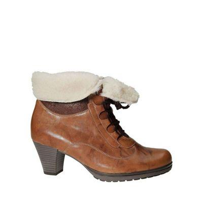 Gabor Brown Cosmic Womens Lace Up Boots | Debenhams
