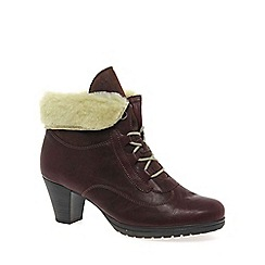 Gabor - Dark red 'Cosmic' Womens Lace Up Boots