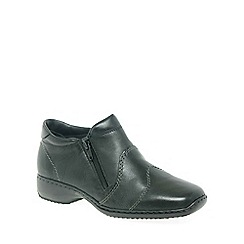 Rieker - Black 'Dory' Womens Double Zip Ankle Boots