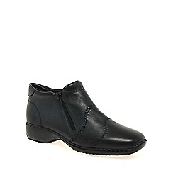 Rieker - Navy 'Dory' Womens Double Zip Ankle Boots