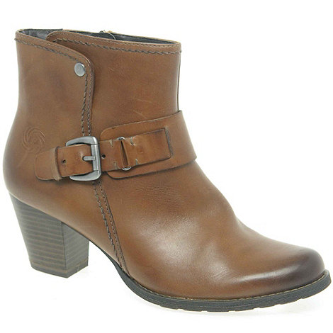 Marco Tozzi - Brown +Fletcher+ Womens Leather Ankle Boots