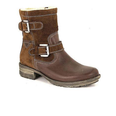 Josef Seibel - Brown +sandra+ double buckle mid-calf suede boots