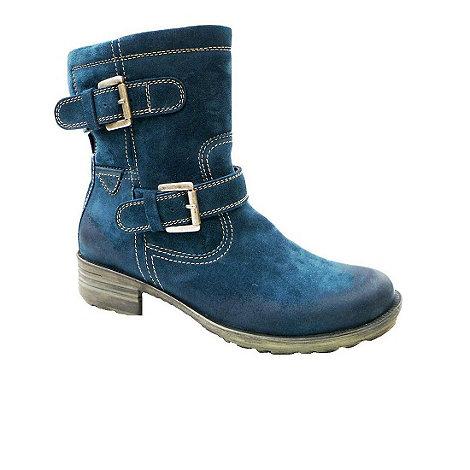 Josef Seibel - Aqua +sandra+ double buckle mid-calf suede boots