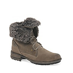 Josef Seibel - Taupe 'sally' faux fur lined womens ankle boots