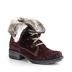 Josef Seibel - Red 'sally' fur lined womens ankle boots
