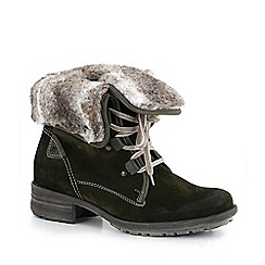 Josef Seibel - Green 'sally' fur lined womens ankle boots