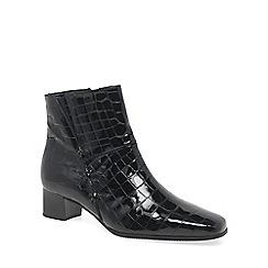 Gabor - Black Patent 'Bassanio' womens ankle boots