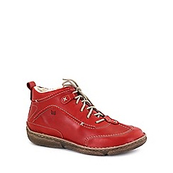 Josef Seibel - Bright red 'Nikki' leather boot