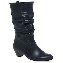 Gabor - Navy 'Rachel' Wide Fit Mid Calf Boot 36.681