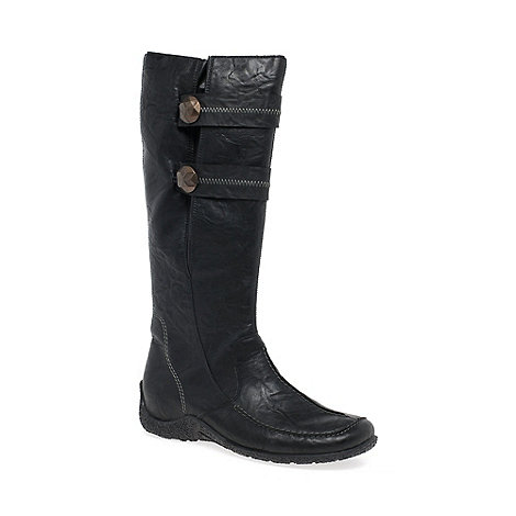 Rieker Black Astrid Long Boots Debenhams