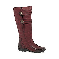 Rieker - Wine 'Astrid' Womens Long Boots