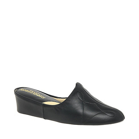 Relax - Black +Dulcie+ Leather Slippers
