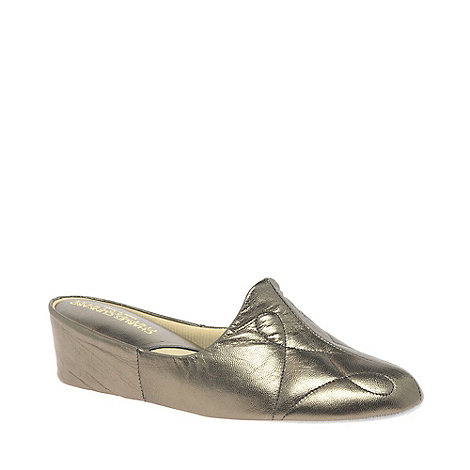Relax - Bronze +Dulcie+ Leather Slippers